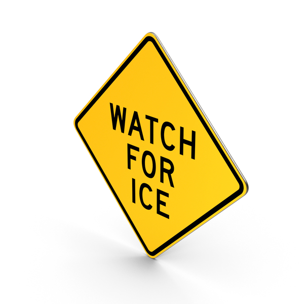 Watch For Ice Pennsylvania Road Sign PNG & PSD Images