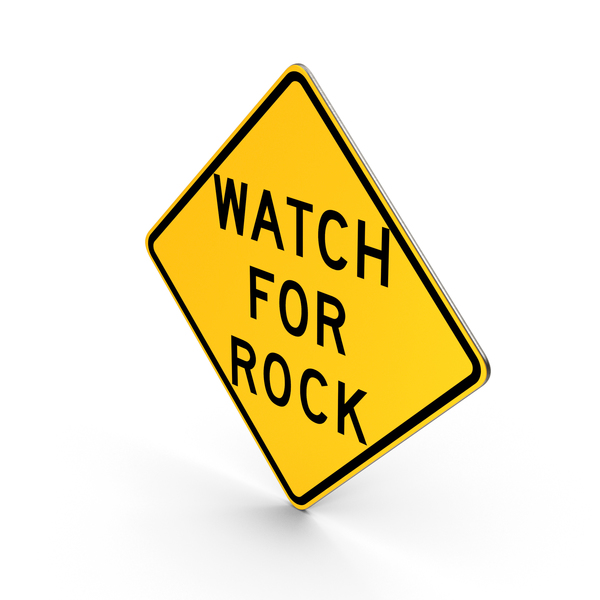Watch For Rock Idaho Road Sign PNG & PSD Images