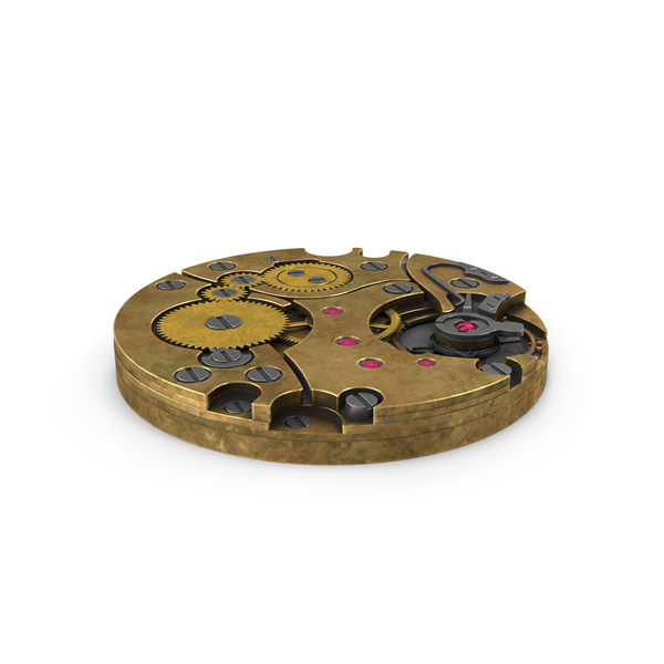 Clock: Watch Mechanism Brass Old PNG & PSD Images