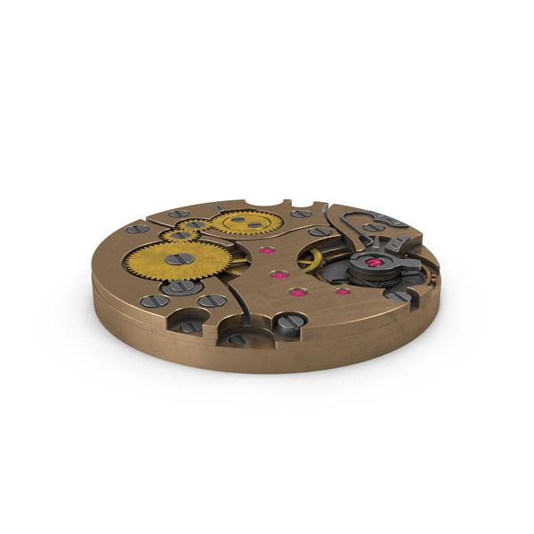 Clock: Watch Mechanism Bronze Armor PNG & PSD Images