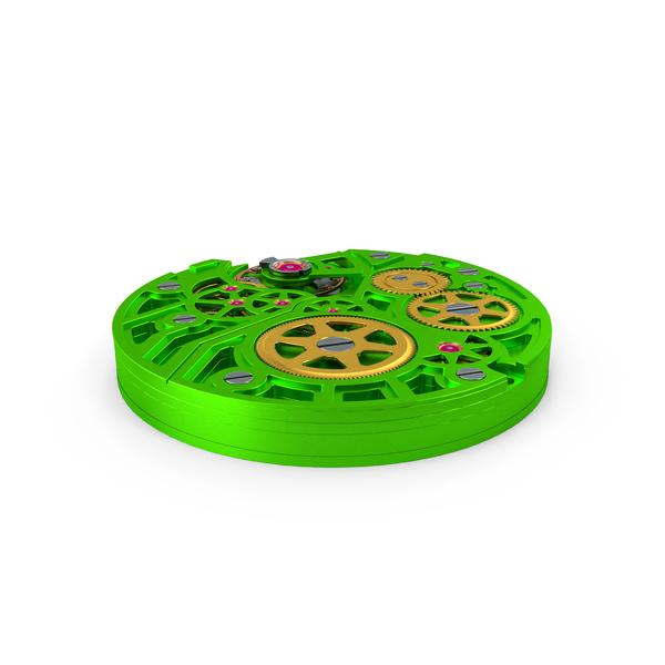 Watch Mechanism Green PNG & PSD Images