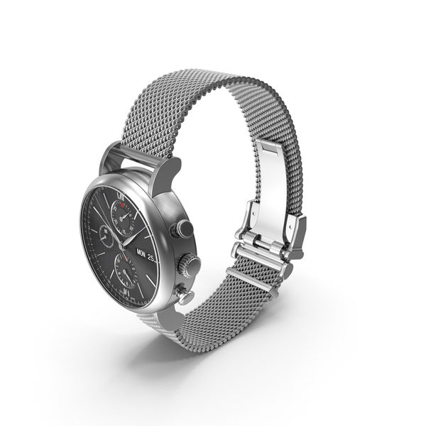 Men's Wrist: Watch Milanese PNG & PSD Images