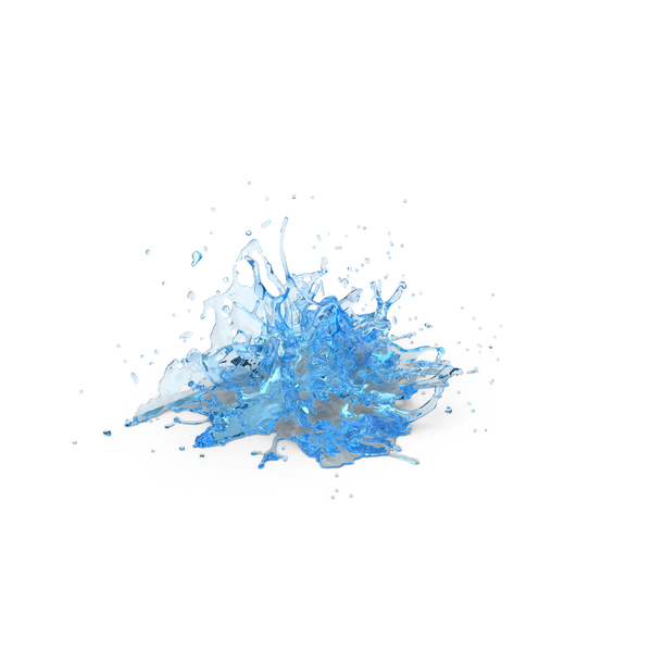 Splash: Water Blue PNG & PSD Images
