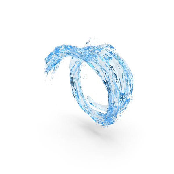 Water Blue Vortex Tunnel PNG & PSD Images