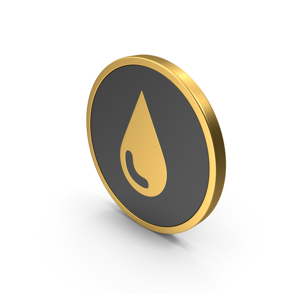 Logo: Water Drop Icon Gold PNG & PSD Images