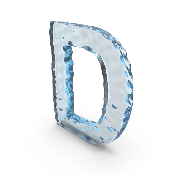 Language: Water Letter D PNG & PSD Images