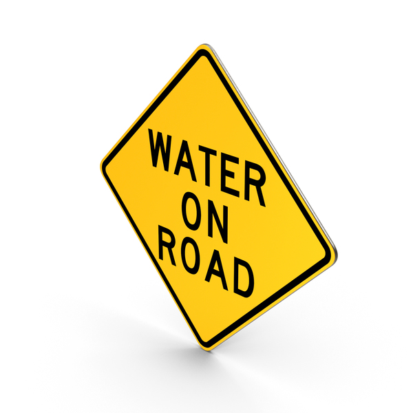 Water On Road Delaware Road Sign PNG & PSD Images