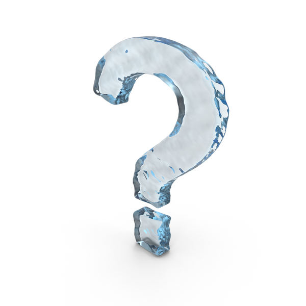 Water Question Mark PNG & PSD Images
