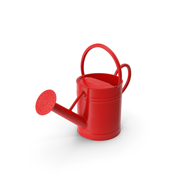 Toy: Watering Can Red PNG & PSD Images
