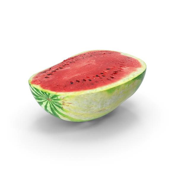 Watermelon Half Cut PNG & PSD Images