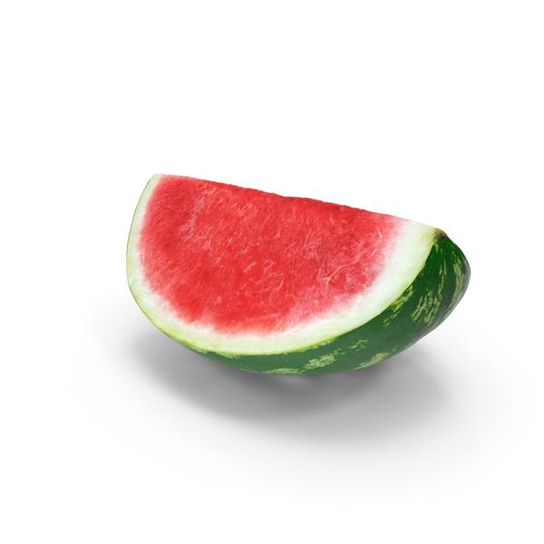 Watermelon Quarter Cut PNG & PSD Images
