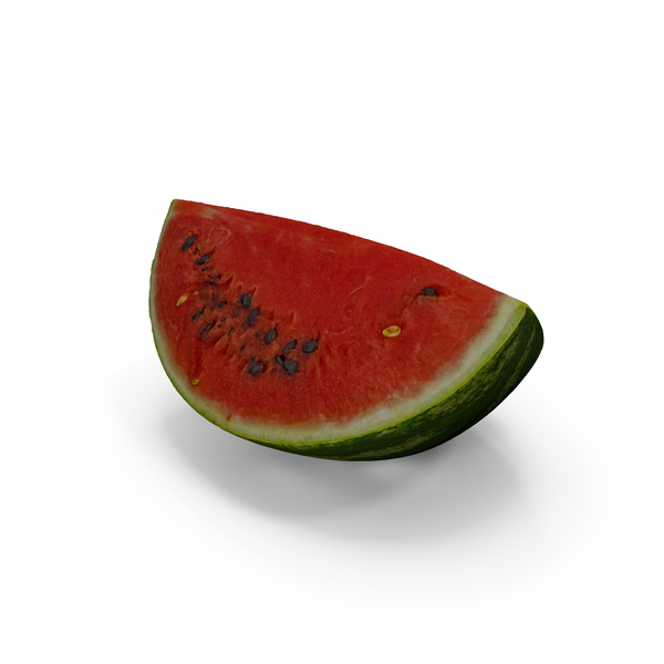 Watermelon Quarter Slice Realistic PNG & PSD Images