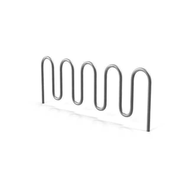 Wave Bicycle Parking Rack PNG & PSD Images