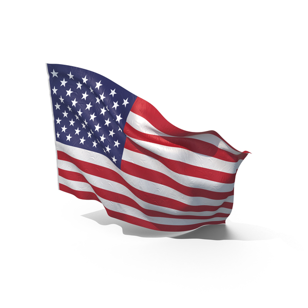 Waving American Flag Object