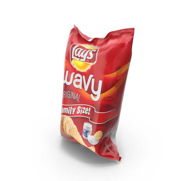 Chip Bag: Wavy Lays Original Potato Chips PNG & PSD Images
