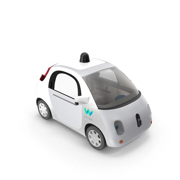 Fictional Automobile: Waymo Self Driving Car PNG & PSD Images