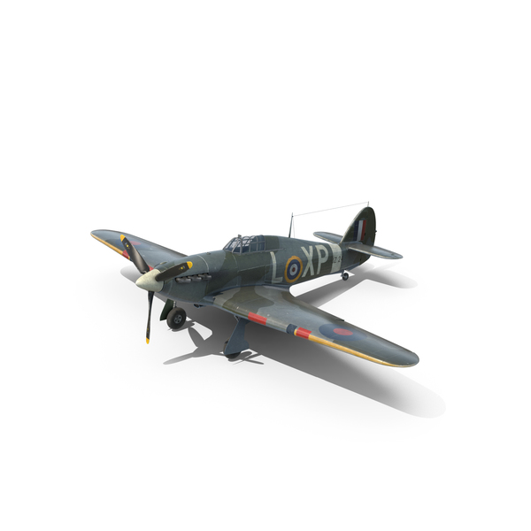 Weahtered Hawker Hurricane Object