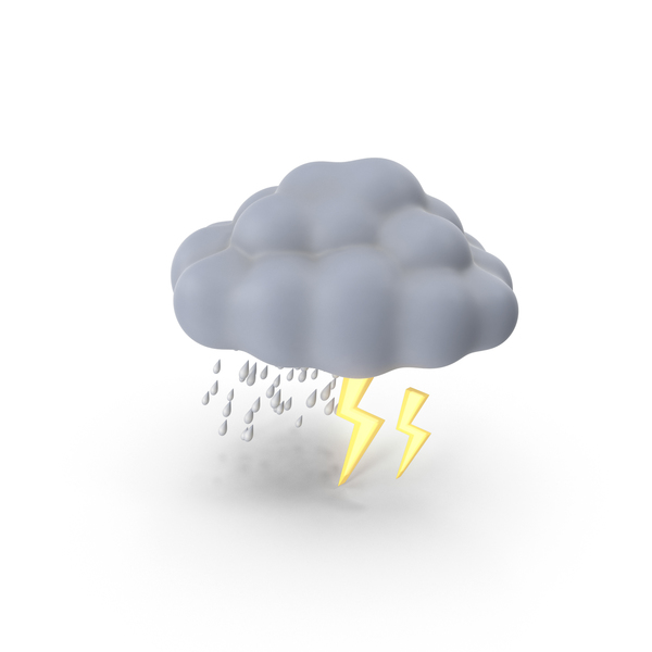 Weather Forecast Thunderstorm PNG & PSD Images