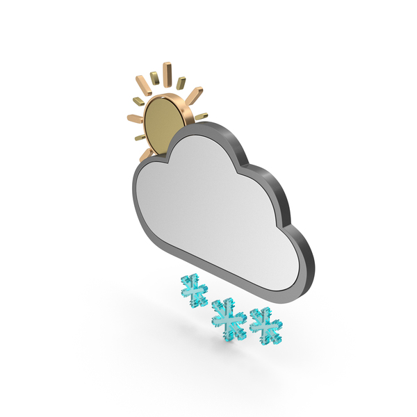 Weather Icon Few Snowy PNG & PSD Images