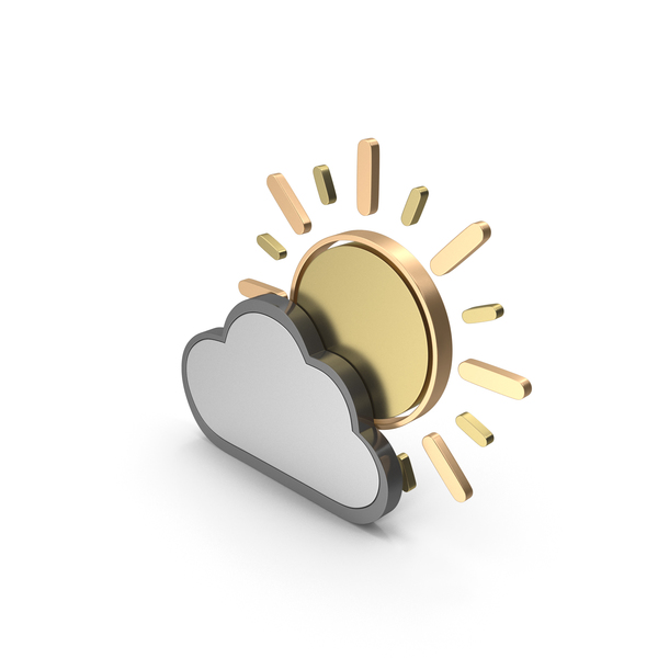 Meteorology Symbols: Weather Icon Partly Cloudy PNG & PSD Images