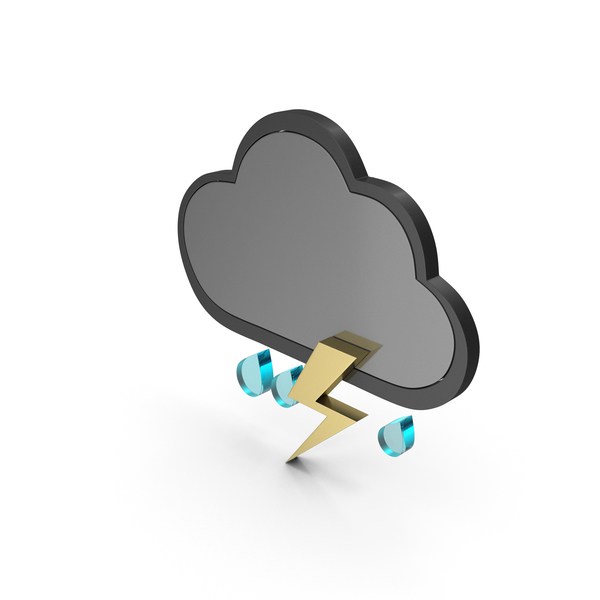 Weather Icon Thunder Rain PNG & PSD Images
