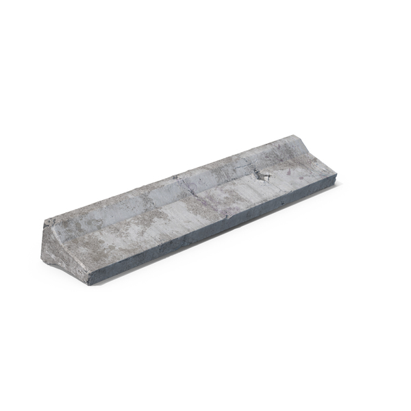 Weathered Concrete Barrier Flipped Over PNG & PSD Images