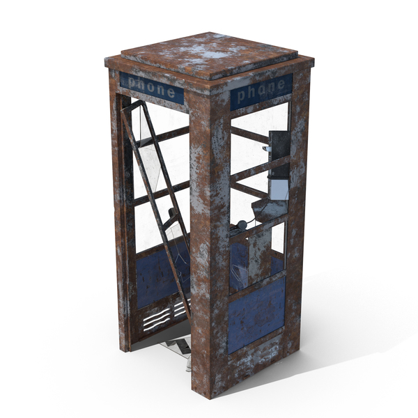Weathered Phone Booth PNG & PSD Images