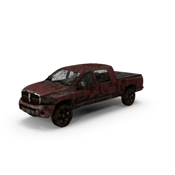 Weathered Pickup Truck Object