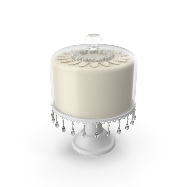Wedding Cake for a Winter Wedding with Glass Dome PNG & PSD Images