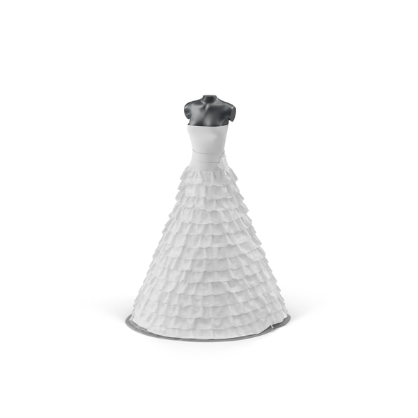 Wedding Dress On Mannequin Object