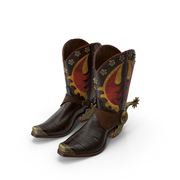 Western Boots with Spurs PNG & PSD Images