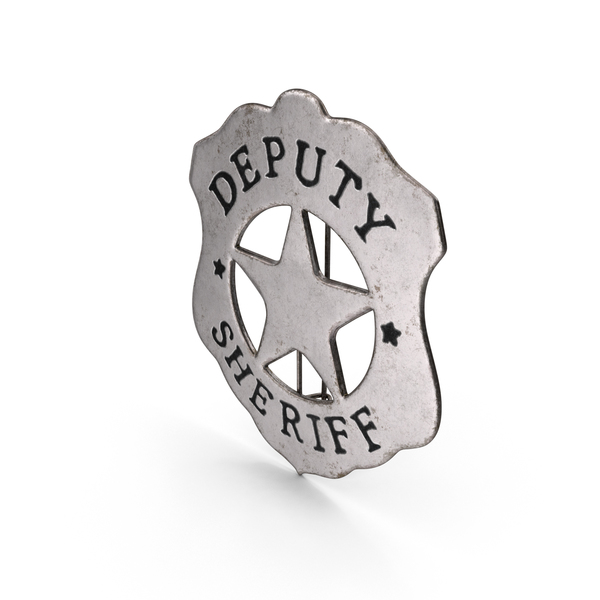 Western Deputy Sheriff Badge Object