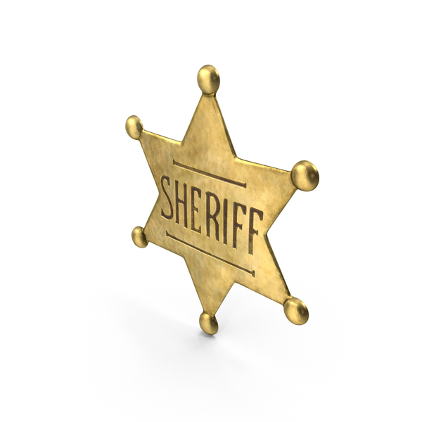 Western Sheriff Badge Object