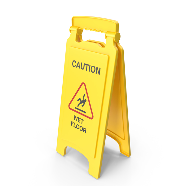 Wet Floor Safety Sign PNG & PSD Images