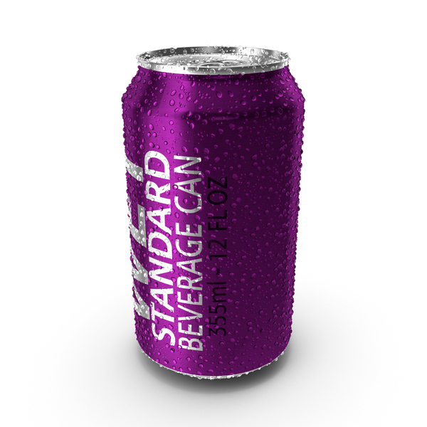 Wet Standard Beverage Can PNG & PSD Images