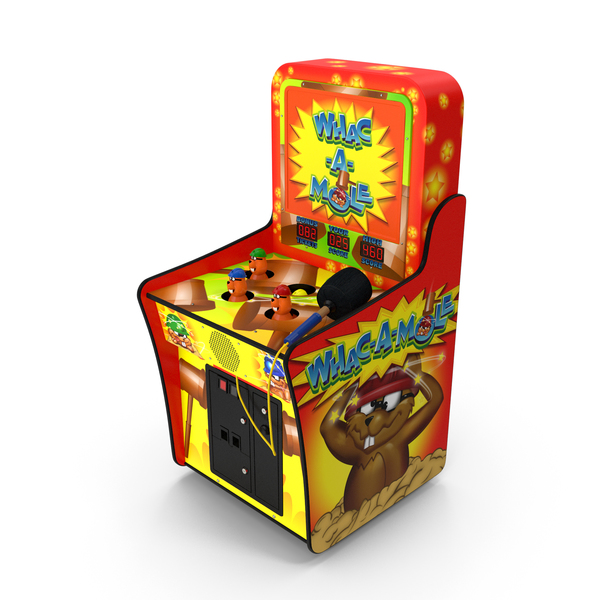 Arcade Games: Whack A Mole Attraction PNG & PSD Images