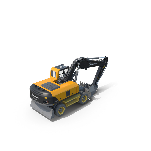 Wheeled Excavator PNG & PSD Images
