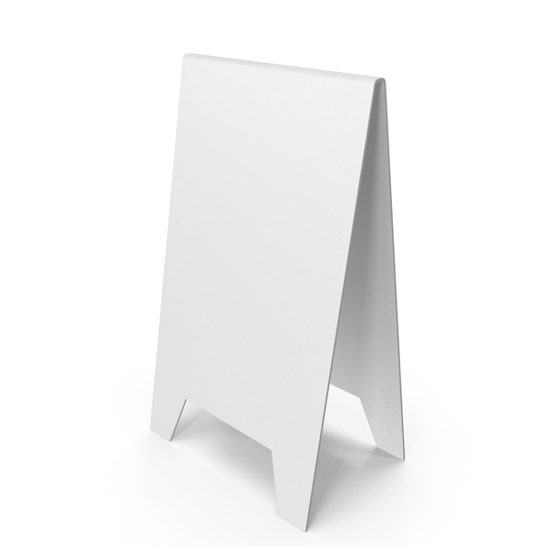 White A Frame Sign PNG & PSD Images