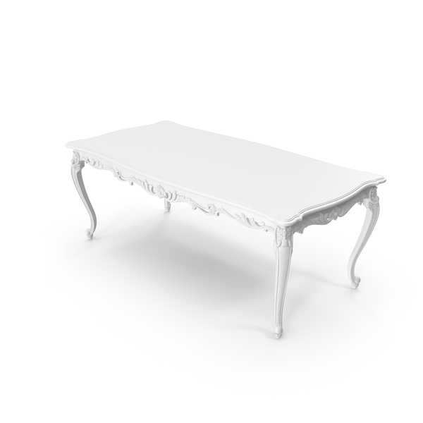 White Absolom Roche Dining Table PNG & PSD Images