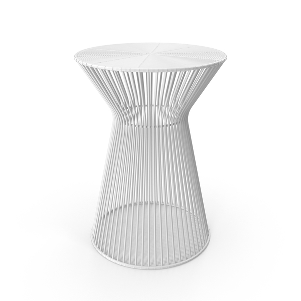 End: White Accent Table PNG & PSD Images