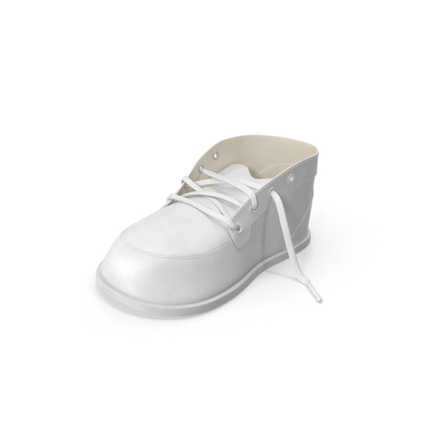 White Baby Shoe Object