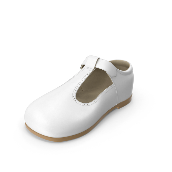 Children's: White Baby Shoe PNG & PSD Images
