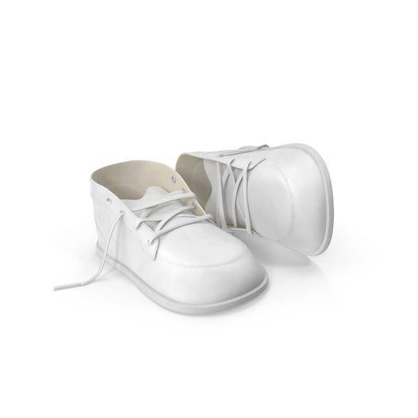 White Baby Shoes Object