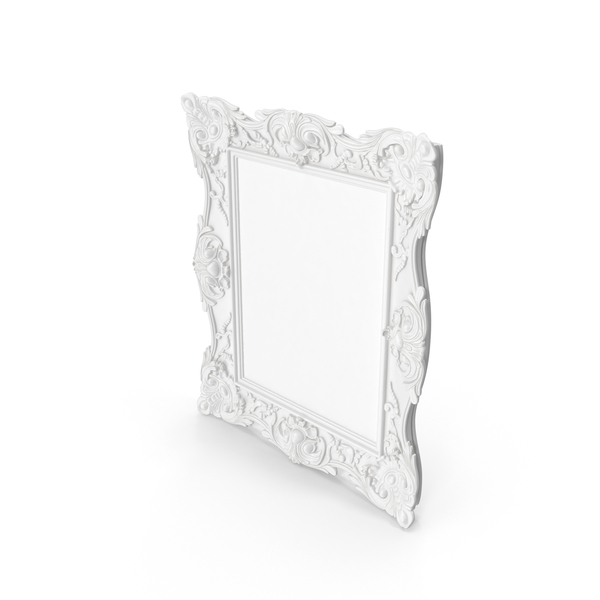 White Baroque Frame PNG & PSD Images