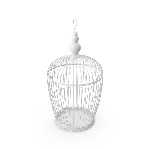 White Bird Cage PNG & PSD Images