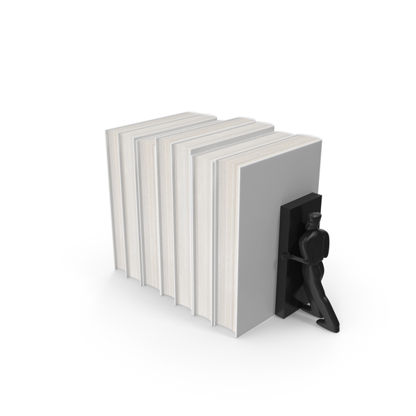 Book: White Books  With Bookend PNG & PSD Images