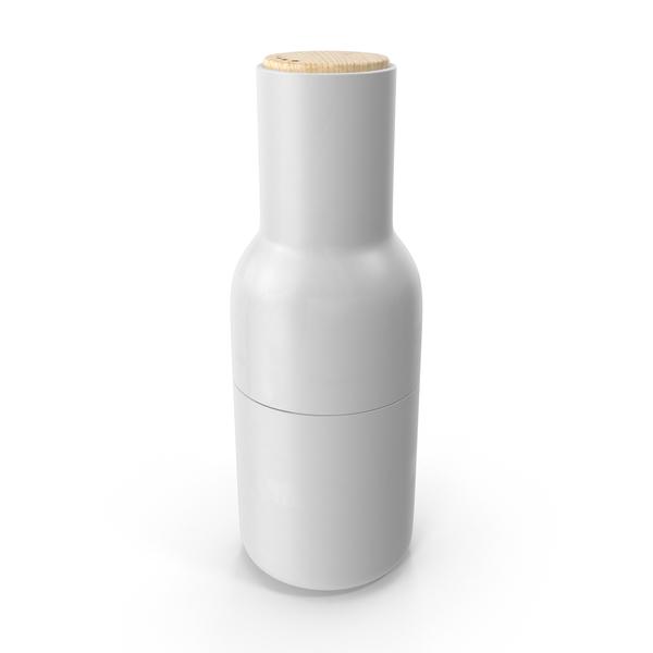 White Bottle Grinder PNG & PSD Images