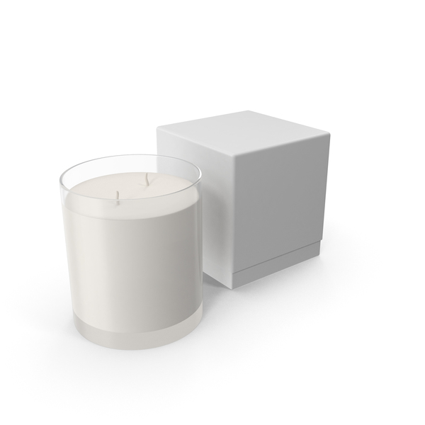 White Candle with Box PNG & PSD Images