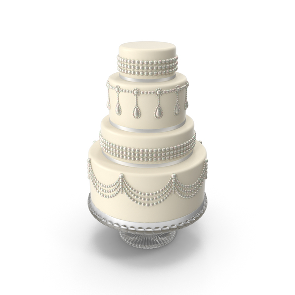 White Cascade Wedding Cake PNG & PSD Images