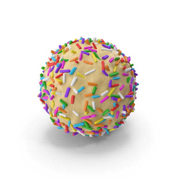 White Chocolate Ball with Colored Pops PNG & PSD Images